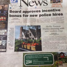 C & G News Article - Shelby Farmers Market
