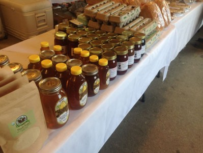 Amish honey and maple syrup - shelby farmers market 2016