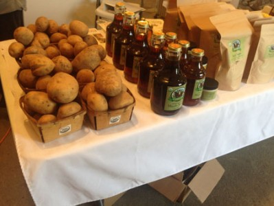 Amish potatoes and maple syrup - shelby farmers market 2016