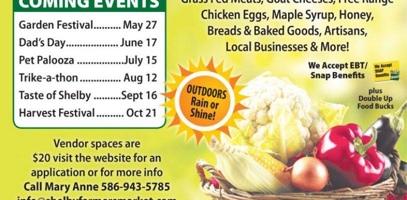 Farmer's Market – Every Saturday May 20 – Oct 21, 2017